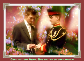 Military gay wedding