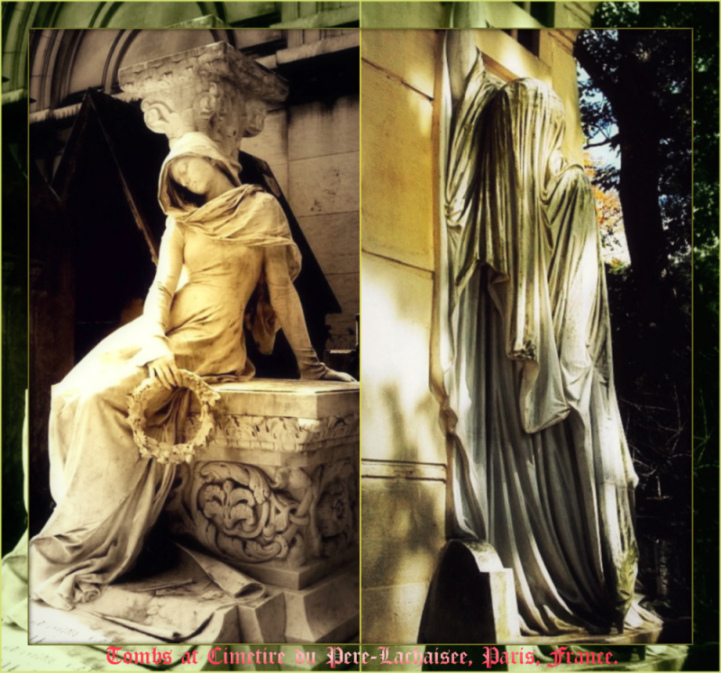 Paris - tombs Collage