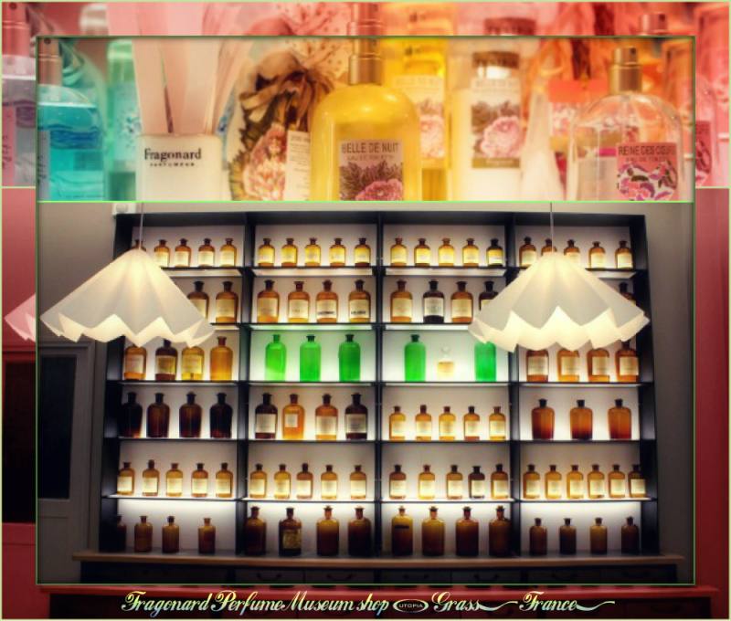 Fragonard Perfume Museum shop-Collage