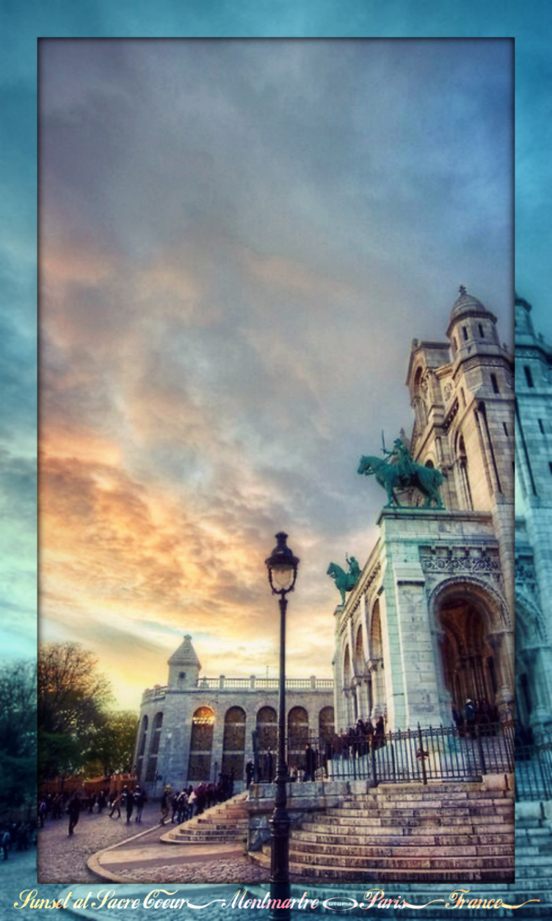 Montmartre - Sunset at Sacre Coeur1
