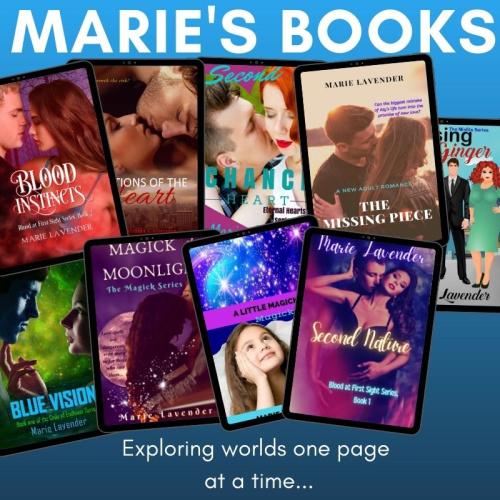 Marie's books promo image